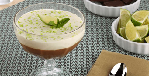 mousse de limon y chocolate