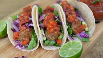 tacos vegetarianos de albondigas de lentejas