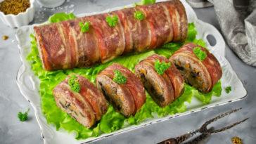 rollo de jamón y espinacas