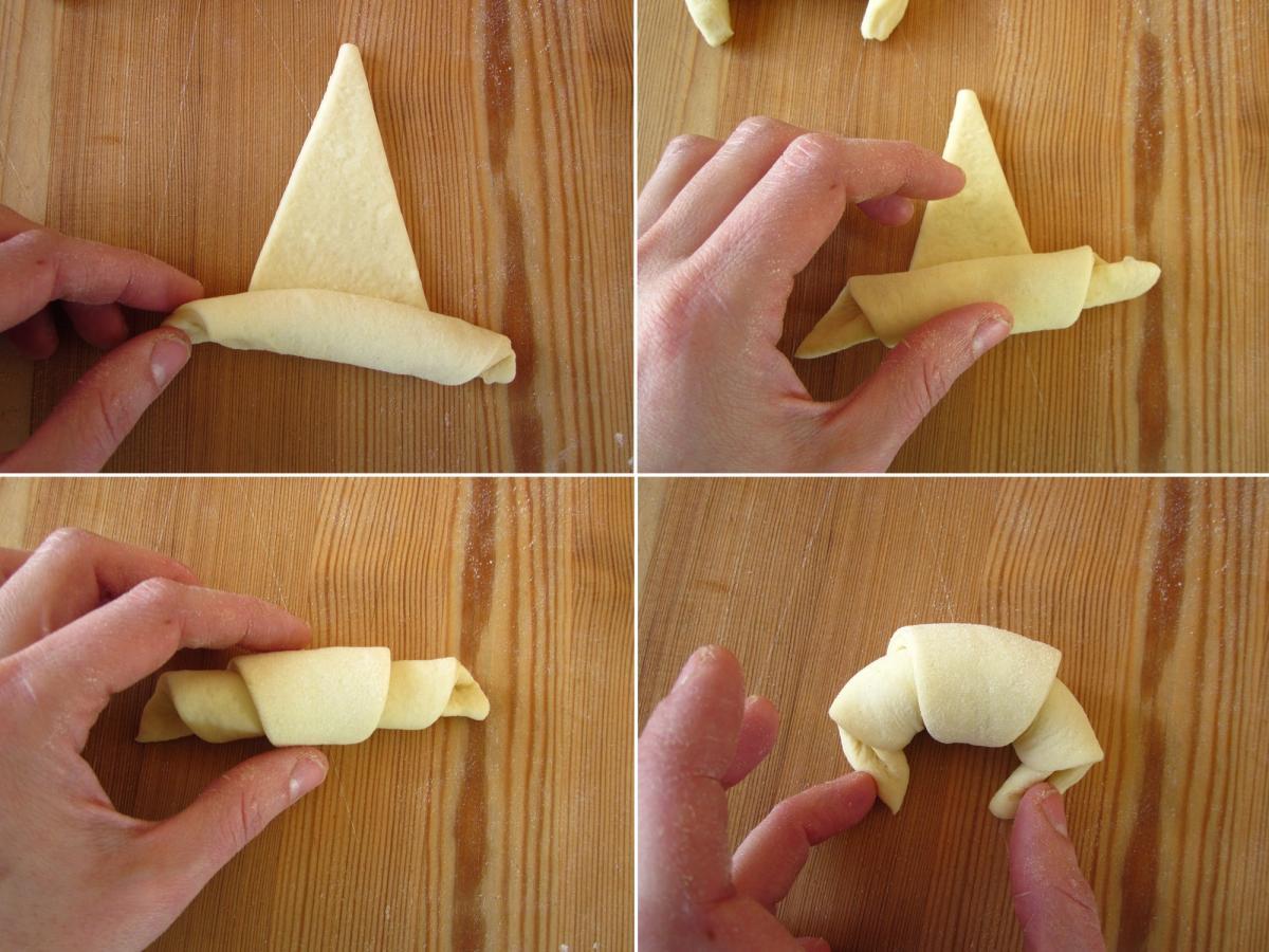 Como preparar croissants, medialunas o cachitos caseros